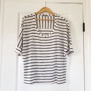 Olivia Moon Striped Top Size Large